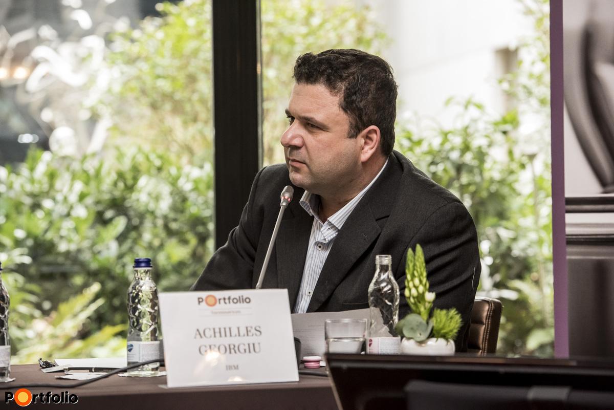 Georgiu Achilles (IBM - Technológiai Szolgáltatások üzletág vezető, CEU - Technológia Menedzsment és Innováció program igazgató) vezette a záró panelbeszélgetést