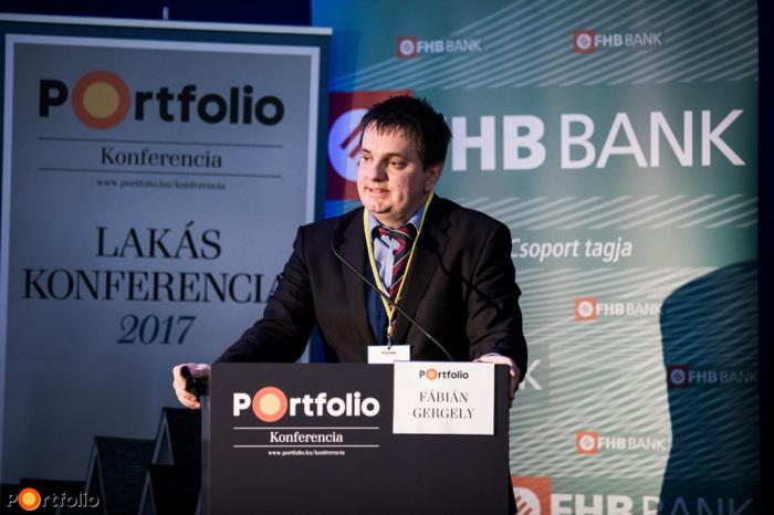 Fábián Gergely (igazgató, Pénzügyi Rendszer Elemzése Igazgatóság, Magyar Nemzeti Bank): Lakáspiac 2017 jegybanki szemmel (Fotó: Stiller Ákos)