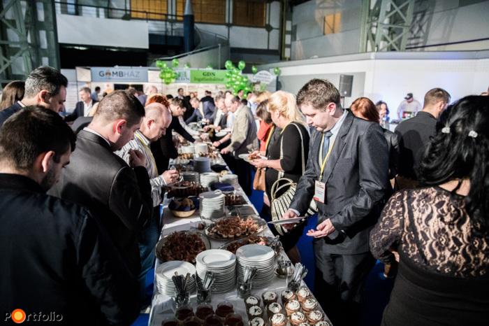 A konferenciát követő állófogadás a Lakás 2017 Kiállításon (Fotó: Stiller Ákos)
