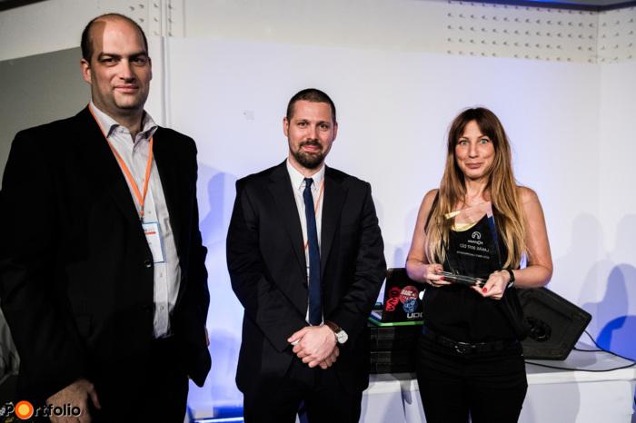 A 110 lakásos vagy annál nagyobb pesti projektek kategóriájában a Portfolio Lakás 2017 díját a Metrodom Panoráma, a Metrodom fejlesztésében kapta (Fotó: Stiller Ákos)