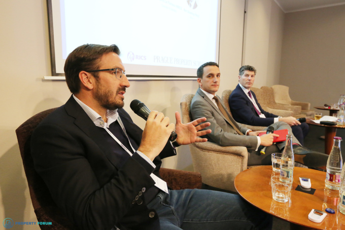 Investing in hotel, student housing, residential. Participants: Omar Koleilat (CEO, Crestyl and Chairman, Developers' Association in the Czech Republic), Frederic Le Fichoux MRICS (Partner – Global Hospitality Group, Cushman & Wakefield), Ben Maudling FRICS (CEO Czech Republic and Slovakia, Savills).