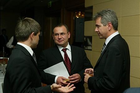 Fatér Gyula (BB Alapkezelő), Lantos Csaba (OTP), Szalay-Berzeviczy Attila (BÉT)