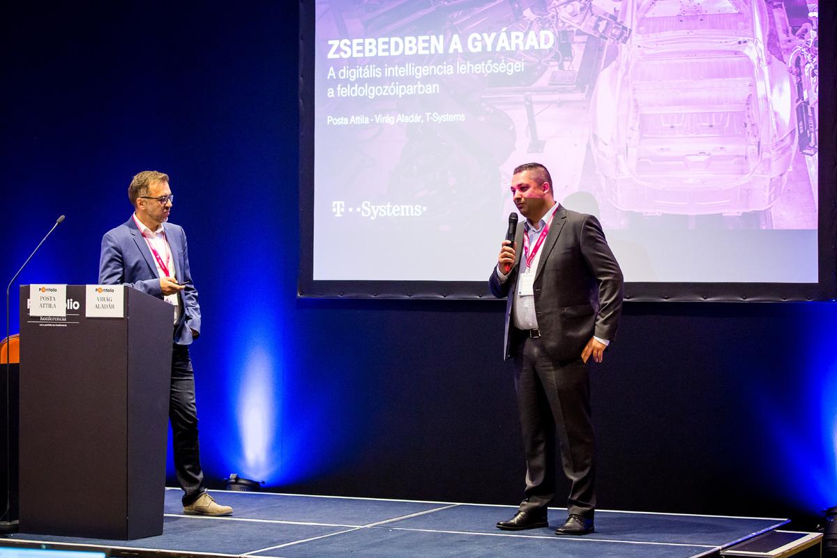 Posta Attila (Partner, T-Systems Magyarország) és Virág Aladár (Business Operations Manager, T-Systems Magyarország): Zsebedben a gyárad