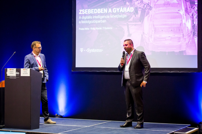 Attila Posta (Partner, T-Systems Hungary), Aladár Virág (Business Operations Manager, T-Systems Hungaary): Plant in your pocket