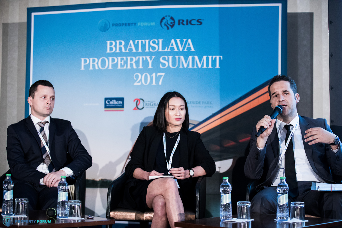 The future of offices roundtable. Peter Očovan (Country Manager Operations, Immofinanz), Lucia Šimeková (Leasing Manager, Sharow Capital) and Peter Piš (Head of Leasing Department, J&T Real Estate).