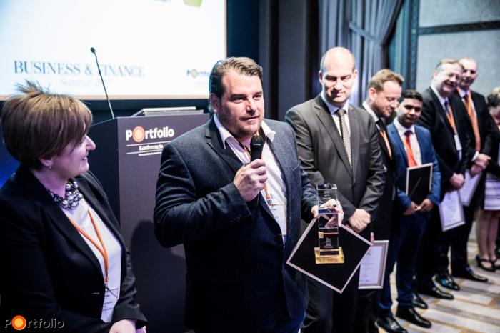 Winner of the CFO of the year award: Károly Szász (Bonafarm Zrt.)