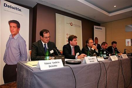 Simor András, Seres Béla, Michel-Marc Delcommune, Spéder Zoltán, Polacsek Csaba és Vaszily Miklós