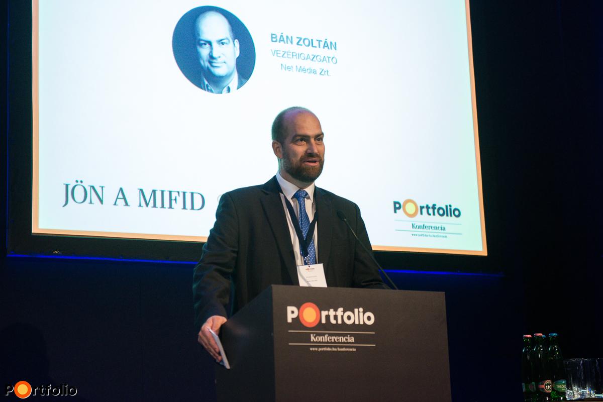 Bán Zoltán, a Net Média Zrt. vezérigazgatója köszöntötte a vendégeket.