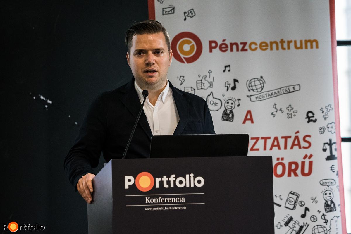 Az esemény moderátora: Nagy Bálint (vezető szerkesztő, Pénzcentrum)