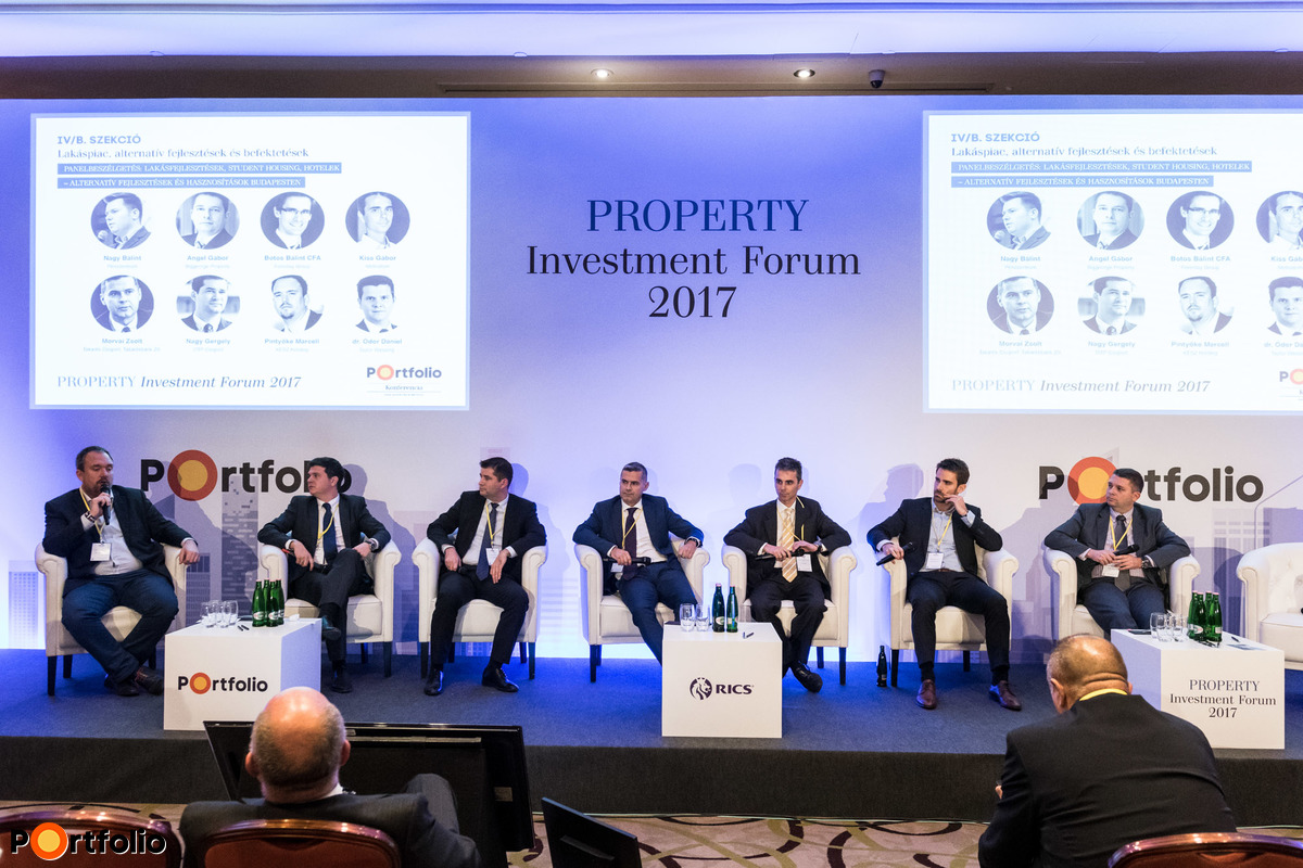 Residential developments, student housing, hotel developments. Participants of the panel:  Marcell Pintyőke (Director, KÉSZ Holding), Dr. Dániel Ódor (Senior Associate, Partner), Gergely Nagy (Deputy Managing Director – Budapest Region, OTP Group), Zsolt Morvai (Director, Takarék Csoport, Takarékbank Zrt.), Gábor Kiss (Managing Director, Metrodom Kivitelező Kft.), Bálint Botos CFA (Managing Partner, Forestay Group), Gábor Angel (Member of the Board, BIGGEORGE Property Zrt.)