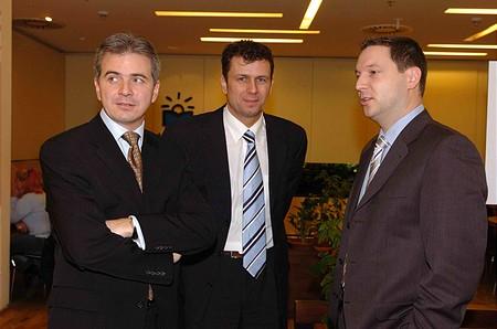 BÉT elnök, öttusa olimpiai bajnokunk és Szalay Zsolt a MOL Rt marketing igazgatója