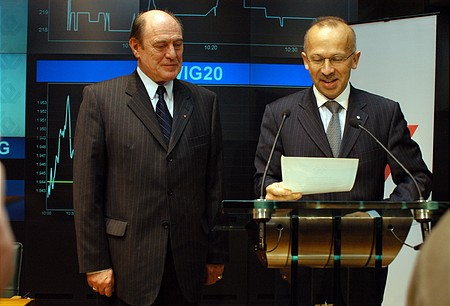 Dr. Mihály Kupa, Chairman of the Supervisory Board; Wieslaw Rozlucki, President of the Warsaw Stock Exchange