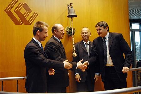 from left: Witold Stêpieñ, Dr Mihaly Kupa, Wieslaw Rozlucki, Jozsef Molnar