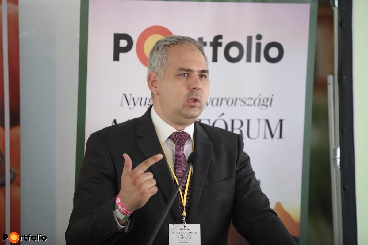 Leskó Tamás (üzleti ügyvezető igazgató-helyettes, Agrár-Vállalkozási Hitelgarancia Alapítvány): Hogyan segíti a kezességvállalás az agrárfinanszírozást?