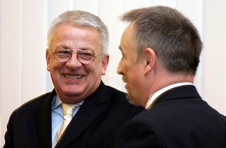 Mohai György (BÉT vezérigazgató-h.) és Hernádi Zsolt