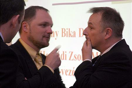 Ferencz I. Szabolcs (MOL kommunikációs igazgató) és Hernádi Zsolt (MOL, elnök-vezérigazgató)