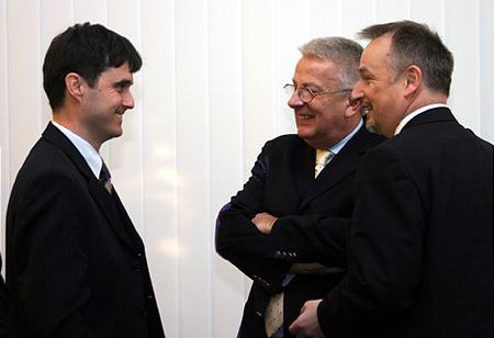 Veres Zsolt (SAP), Mohai György (BÉT), Hernádi Zsolt (MOL)