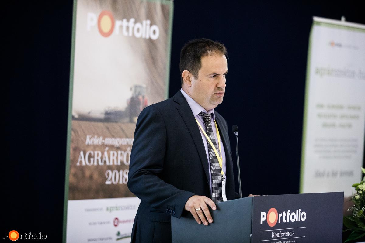 Takács Sándor, a Portfolio kereskedelmi igazgatója nyitotta meg az Agrárfórumot