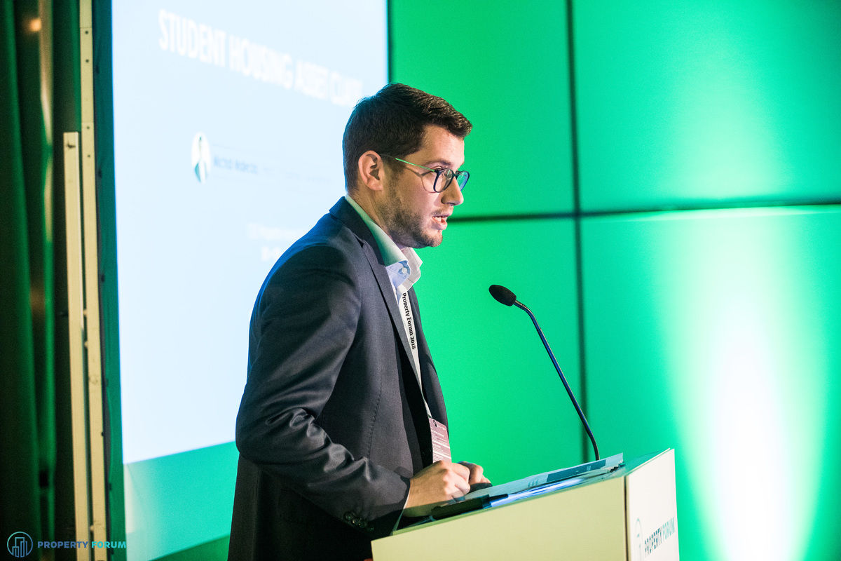 Michal Malecka (StudentMarketing) spoke about investment opportunities in student housing