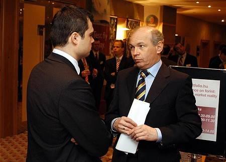 Finance Minister Tibor Draskovics and Miklós Vaszily from portfolio.hu