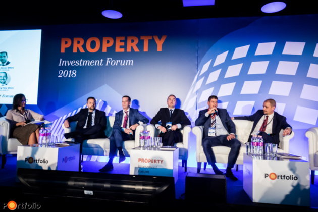 Office market: Focusing on trends and challenges. Conversation participants: dr. Péter Würsching MRICS (Head of Leasing, Jones Lang Lasalle Kft.), Péter Szalma (Leasing Manager, CA Immo), Balázs Simonyi MRICS (Leasing Director, CPI Hungary), Adorján Salamon MRICS (CEO, ESTON International), Géza Barabás (Country Manager, S IMMO Hungary) and the moderator Timea Henter (Associate Director, Office Division, Knight Frank Hungary)