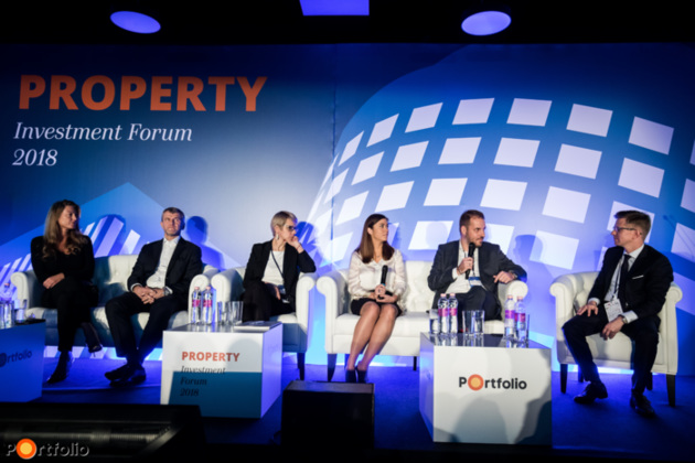 Office market: Focusing on future projects. Conversation participants: Gergely Pados (Managing Director, Cushman & Wakefield),  Kata Mazsaroff (Director, Head of Occupier Services, Colliers International), Erika Loska MRICS (Head of Office Division, Knight Frank Hungary) Attila Kovács MRICS (Managing Partner, Horizon Development), Bori Gedai (Deputy Country Manager, GTC) and the moderator Gábor Vörös (Managing Director, UniCredit Bank Hungary Zrt.)