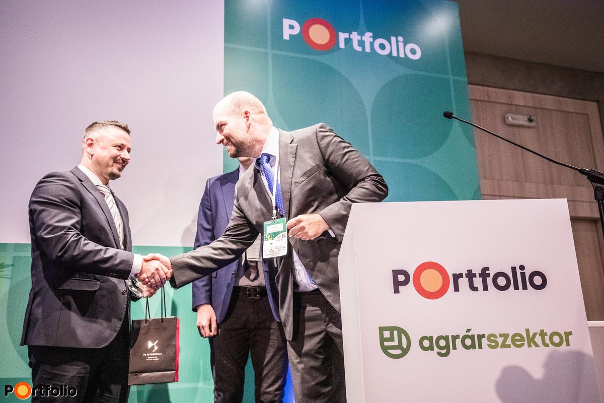 Portfolio Agrárszektor Díjak 2018 díjátadó. Az év agrárszakértője: Hollósi Dávid (Takarék Agrár Igazgató, Takarék Csoport)