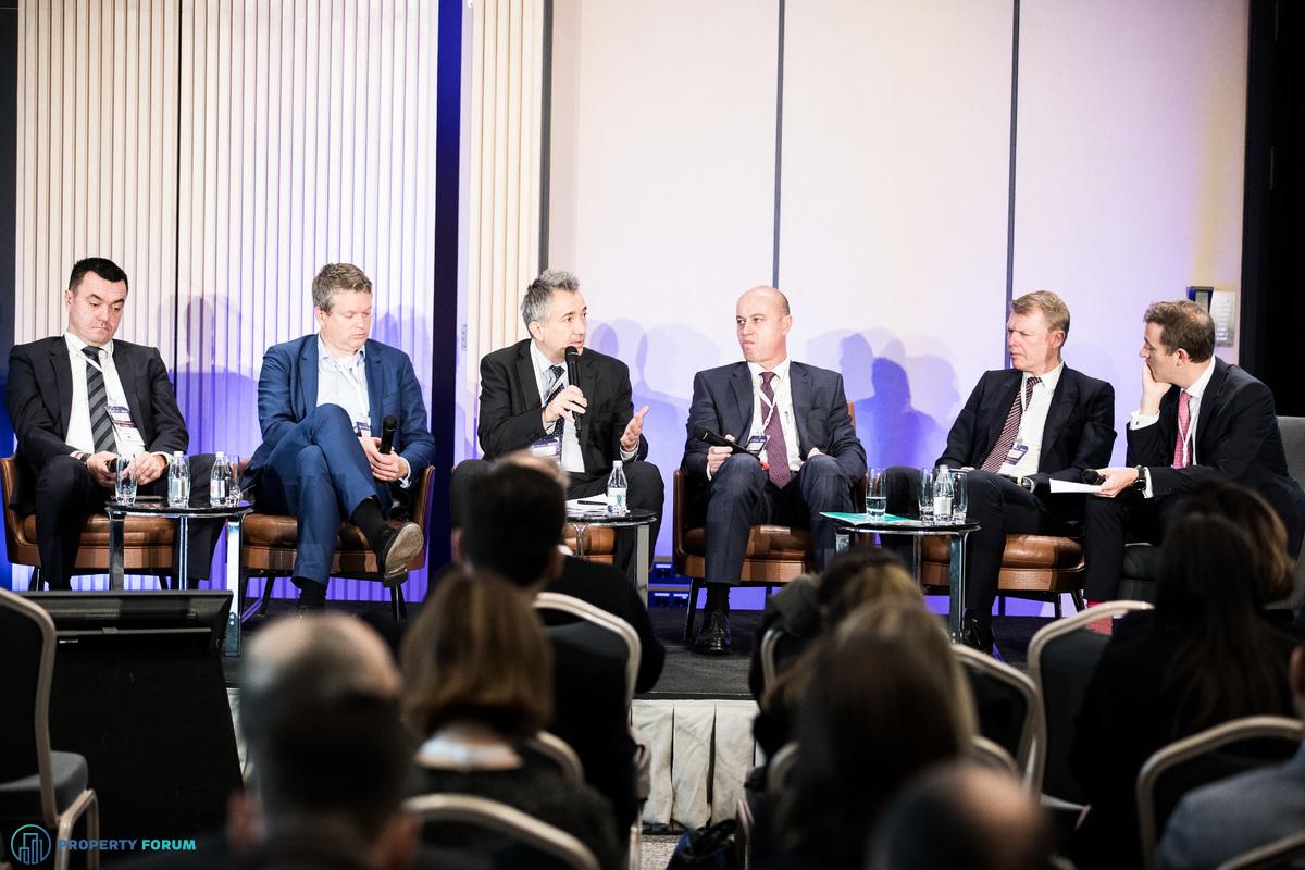 International investors' roundtable: Stevan Lojović (Bluehouse Capital), Gijs Klomp MRICS (NEPI Rockcastle), Alex Bebov (Balkan Advisory Company), Wolfgang Hausner (Erste Group Immorent), Remon Vos (CTP), Andrew Peirson MRICS (CBRE)