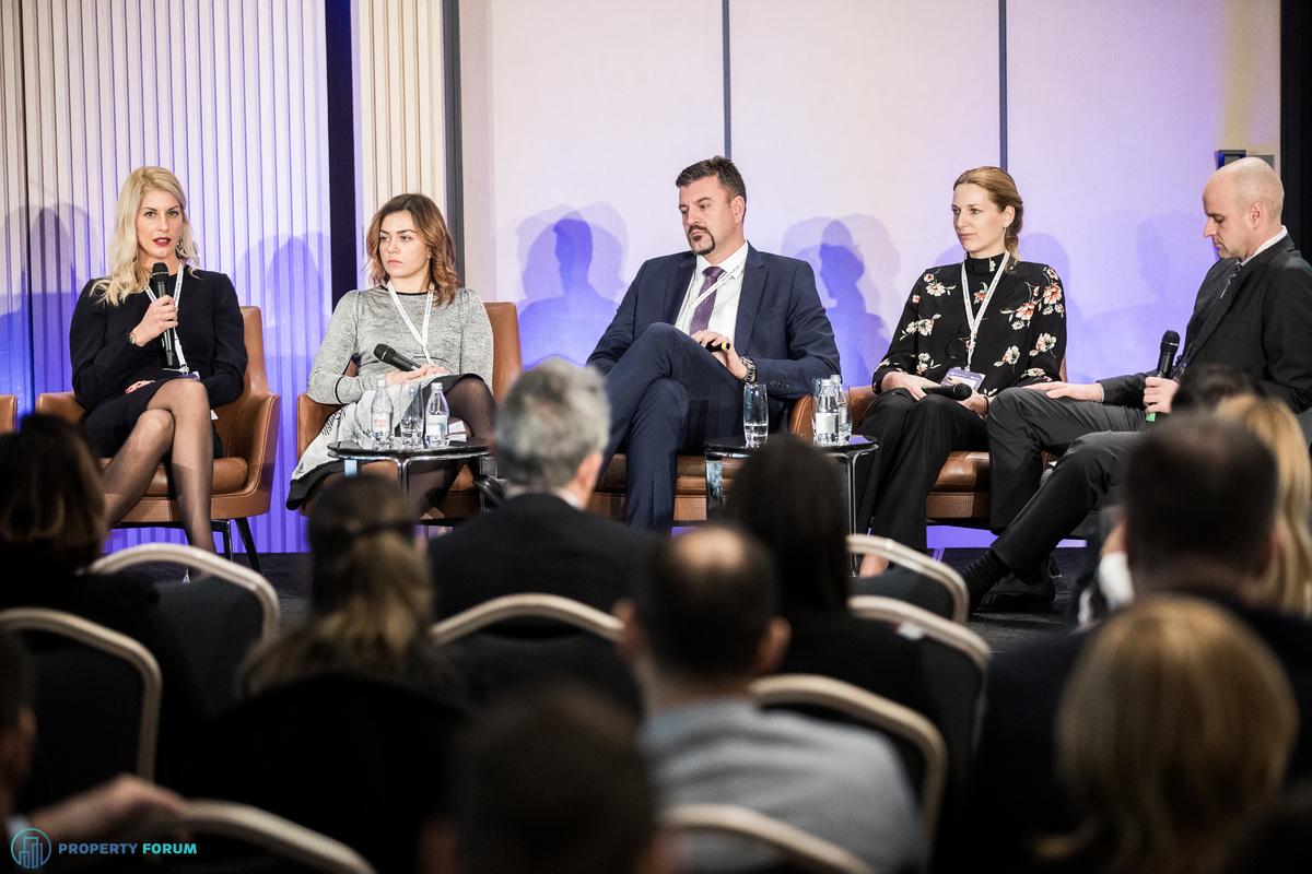 Retail roundtable: Mia Zečević (Novaston Asset Management), Ivana Rajković (Poseidon Group), Joško Piteša (Immofinanz Serbia), Katarina Gajić (Delta Real Estate), Hrvoje Kvasnička MRICS (Bricmore)