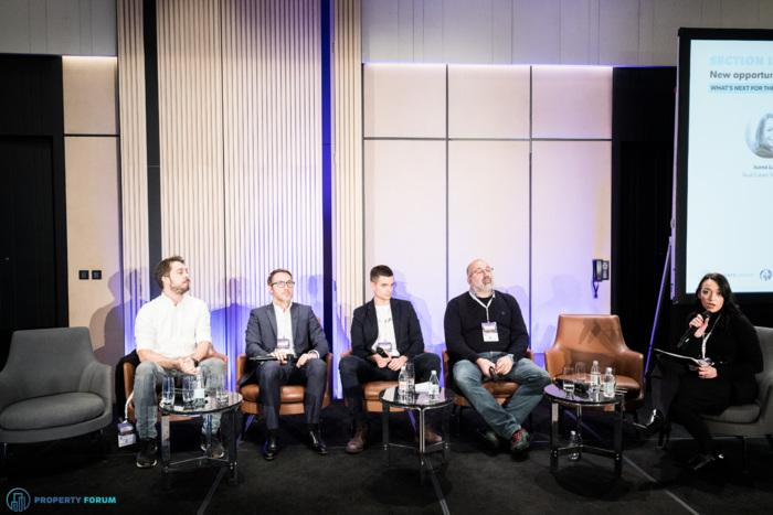 PropTech roundtable: Marko Radenković (Nova Iskra Workspace / Rent24), Vincent Vallois MRICS (Online Real Assets), Marton Alovits (UP2VR), Dubravko Opašić (M+ Agency), Ivana Lakić (Real Estate Magazine)